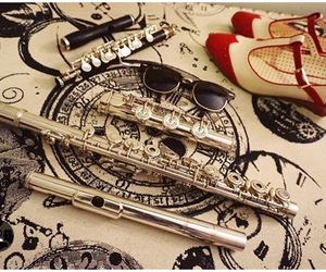 flute, shoes, and sunglasses image