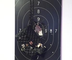 black, destroyed, and gun image