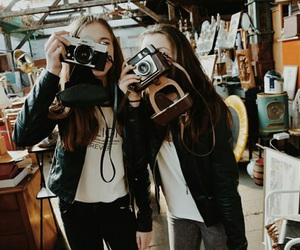 best friends, friendship, and camera image