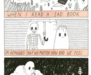book, art, and ghost image
