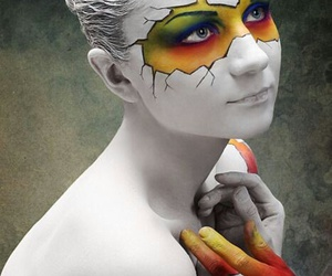 body painting, belleza, and colores image