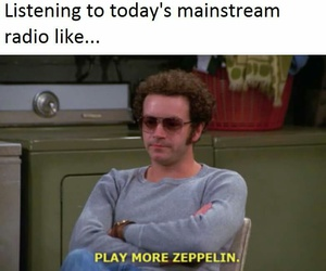 funny, led zeppelin, and meme image