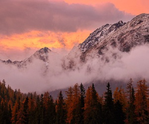 autumn, beautiful, and mountains image