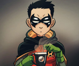 robin, dc comics, and damian wayne image