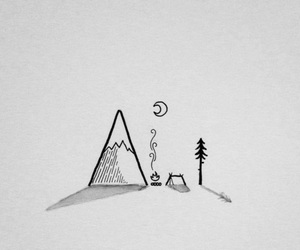adventure, camping, and drawing image