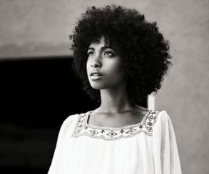 beauty, kinky curly hair, and curly hair image