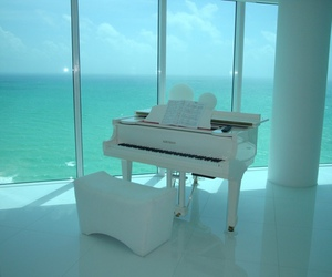 piano, white, and blue image