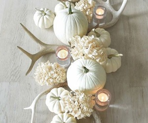 white, candle, and fall image