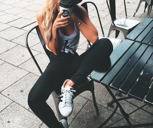 girl, style, and adidas image