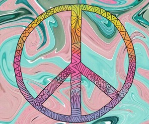 colores, easel, and peace image