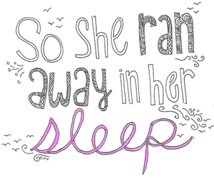 paradise, sleep, and text image