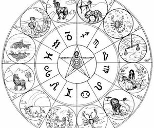 zodiac, sign, and astrology image