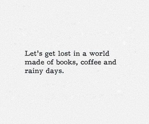books, quotes, and coffee image