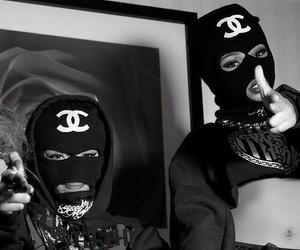 chanel, black, and bad image