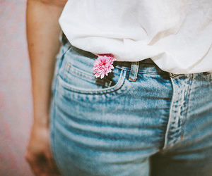 vintage, clothes, and flowers image