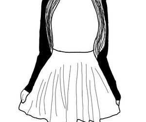 dress, outline, and girl outline image