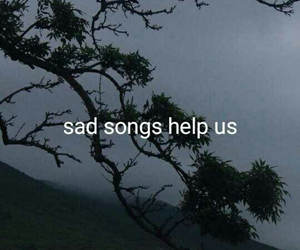 sad, quotes, and song image