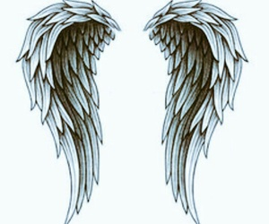 angel, Angel Wings, and tattoo image
