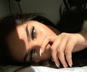 black, girl, and eyes image