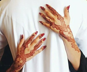henna, couple, and muslim image