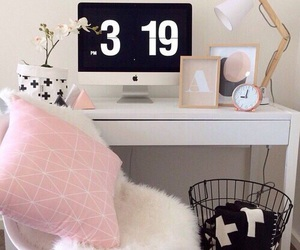 pink, room, and decor image