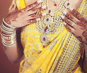 bride, hindi, and yellow image