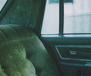 car, green, and old image