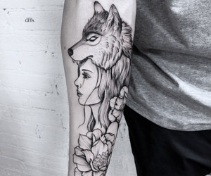 tattoo, black and white, and wallpaper image