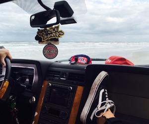 vans, beach, and car image