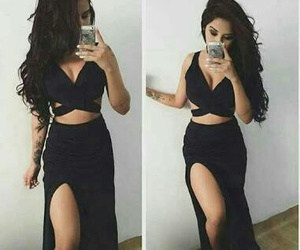 black, dress, and look image