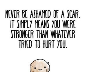 quote, scars, and strong image