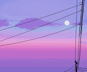 pixel, sky, and purple image
