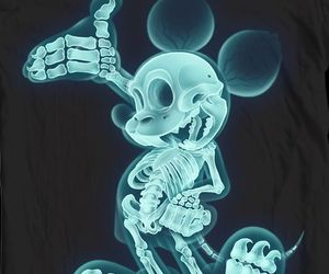 cool, mickey mouse, and skeleton image
