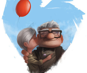 up, love, and heart image