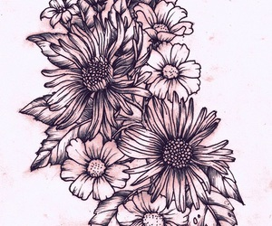 flowers, tattoo, and art image