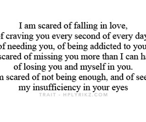 quotes, scared, and love image