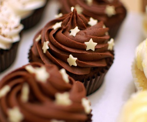 chocolate, cupcake, and food image