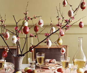 decoration, table, and easter eggs image