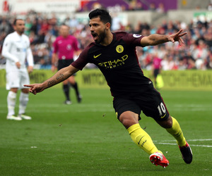 city, football, and goal image