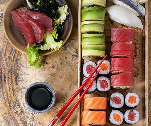 food, sushi, and asian food image