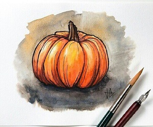 pumpkin, autumn, and drawing image