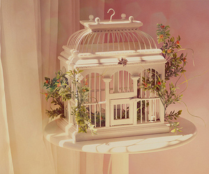 cage, pastel, and pink image