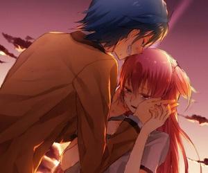 angel beats, anime, and couple image