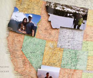 travel, map, and couple image