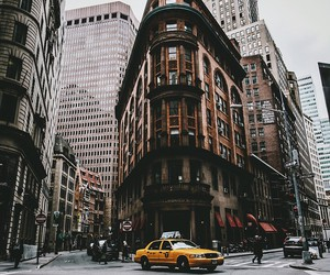 new york, city, and taxi image