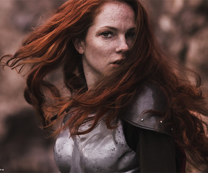 ginger, medieval, and red hair image