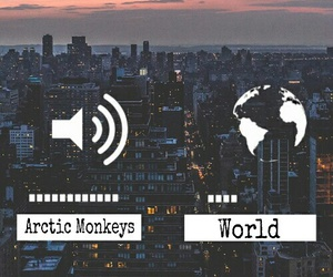 arctic monkeys, city, and world image