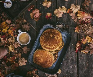 autumn, leaves, and coffee image
