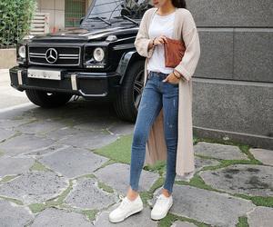 autumn, fashion, and long cardigan image