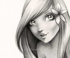 art, fan, and girl image
